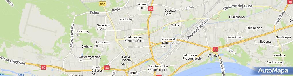 Zdjęcie satelitarne Komornik Sądowy przy Sądzie Rejonowym w Toruniu Adam Marian Olszewski