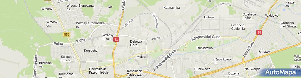 Zdjęcie satelitarne Konarski Radosław Konarscy Centrum Ogrodnicze