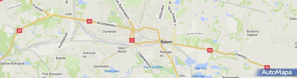 Zdjęcie satelitarne Konfekcjonowanie Sprzedaż Hurt i Detal Artyk Przem