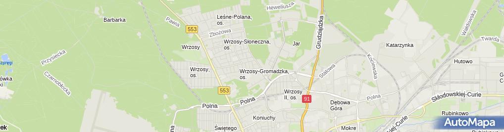 Zdjęcie satelitarne Konopka Joanna Konmark Firma Handlowo Usługowa
