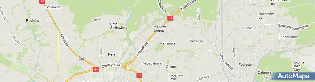 Zdjęcie satelitarne Kopiec Piotr Zakład Elektromechaniki Dźwigowej