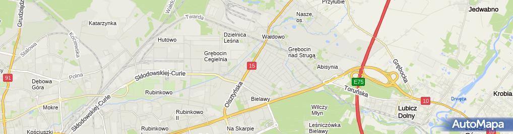 Zdjęcie satelitarne Kowalecki Jarosław Kobi Poligrafia