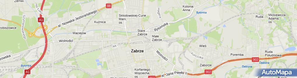 Zdjęcie satelitarne Krawiectwo Lekkie i Handel Art Przemysł Palaczyńska A Warmuzińsa z
