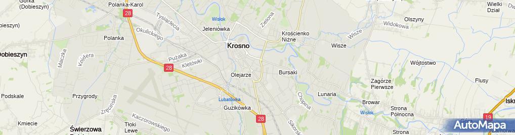 Zdjęcie satelitarne Krośnieńska Oficyna Wydawnicza