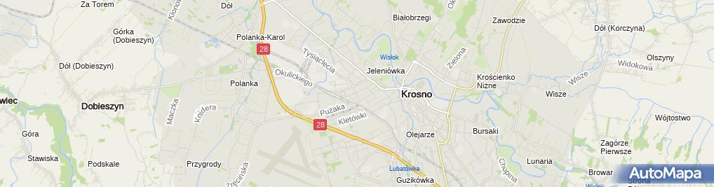 Zdjęcie satelitarne Krośnieński Klub Sportowy Głuchych