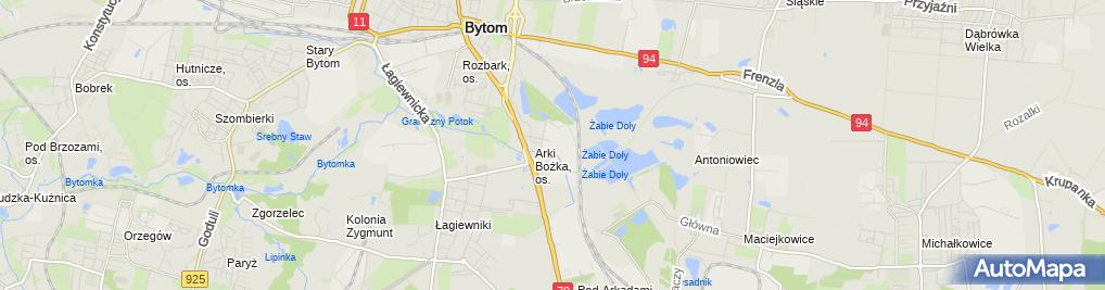Zdjęcie satelitarne Krystyna Pilot - Działalność Gospodarcza