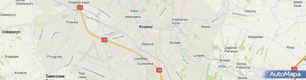 Zdjęcie satelitarne Krzanowski Wacław Zespół Usług Projektowych i Wykonawczych