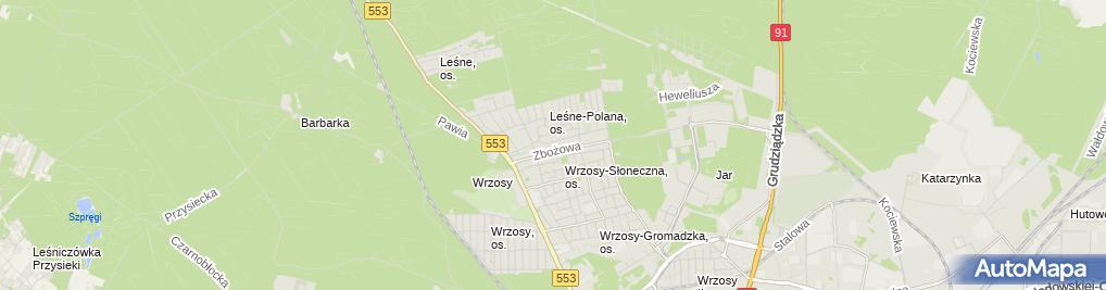 Zdjęcie satelitarne Krzemień Jarosław Vergen Firma Handlowo Usługowa