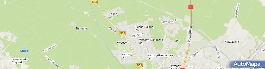 Zdjęcie satelitarne Krzysztof Kownacki Kowi-Trans Transport Międzynarodowy i Krajowy