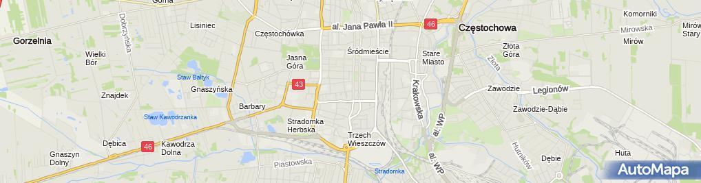 Zdjęcie satelitarne Krzysztof Treter Trekking Sport Agencja