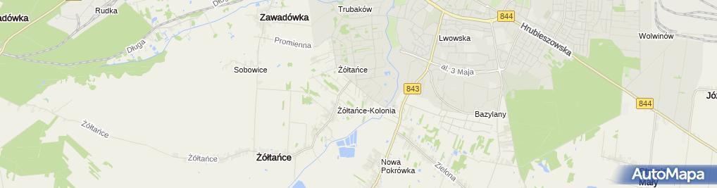 Zdjęcie satelitarne Kublik Mirosława