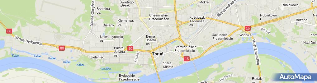 Zdjęcie satelitarne Kujawsko Pomorski Fundusz Poręczeń Kredytowych