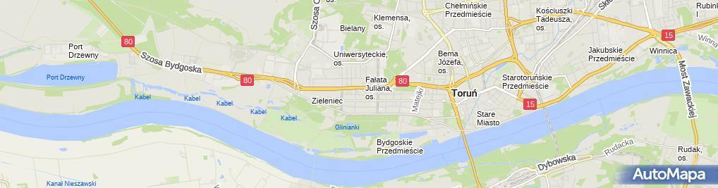 Zdjęcie satelitarne Kujawsko Pomorski Związek Szachowy