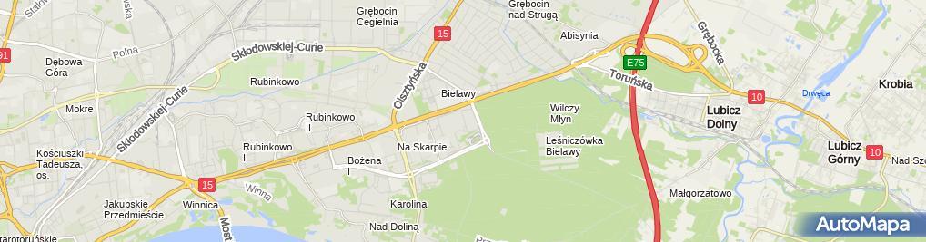 Zdjęcie satelitarne Kujawsko Pomorskie Stowarzyszenie Radiestezyjno Bioterapeutyczne Natura