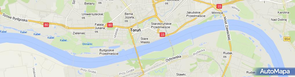 Zdjęcie satelitarne Kujawsko Pomorskie Zrzeszenie Ludowe Zespoły Sportowe
