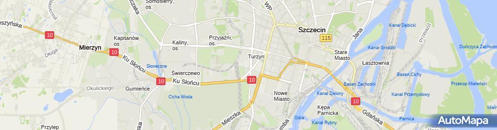 Zdjęcie satelitarne Laguna Wiśniewska M Raś J