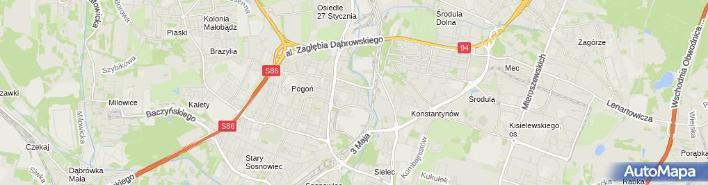 Zdjęcie satelitarne Łakomik Romualda Bar Piwny