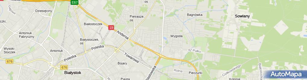 Zdjęcie satelitarne Łapuć Mieczysław Taxi Osobowe