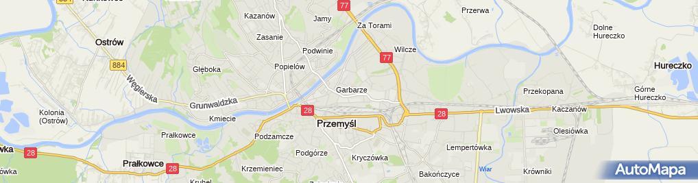 Zdjęcie satelitarne Leszek Jędrzejczyk Przedsiębiorstwo Handlowo-Usługowe Edecor Studio