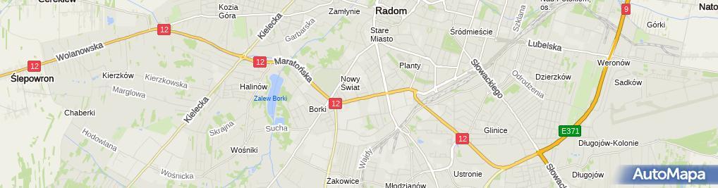 Zdjęcie satelitarne Leszek Żabiński Firma Handlowo Usługowa Navigator