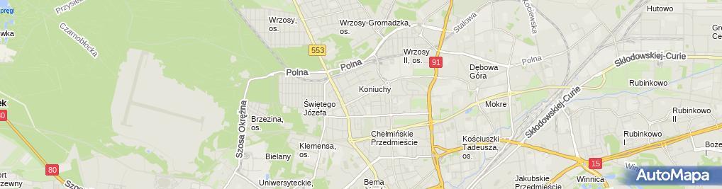 Zdjęcie satelitarne Lewandowska Kamila Foltor