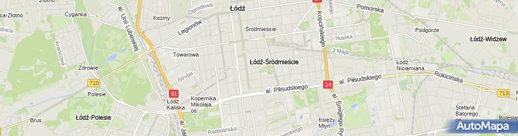 Zdjęcie satelitarne Lewis i Peat Polska w Likwidacji