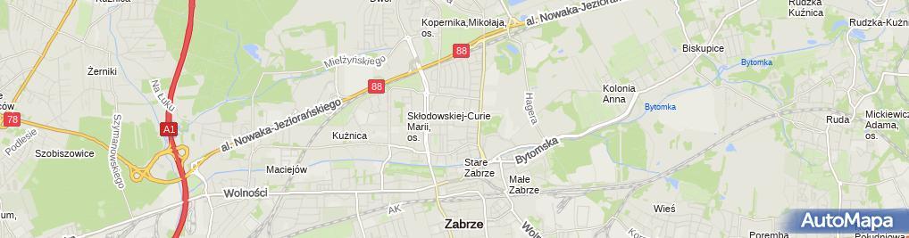 Zdjęcie satelitarne Linstat Oblicz Statst +Jęz Angielski Kursy i Tłumaczenia