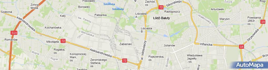 Zdjęcie satelitarne Logisped Centrum Celno Logistyczne Jarosław Fortuna Krzysztof Kotus