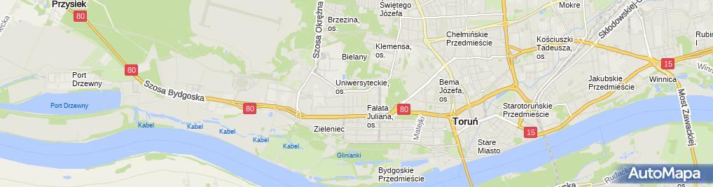 Zdjęcie satelitarne Lokum Zarządzanie Nieruchomościami Katarzyna Buczkowska Krzysztof Streich