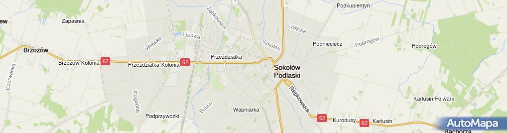Zdjęcie satelitarne Łotkowski Andrzej Zakład Kamieniarsko-Betoniarski