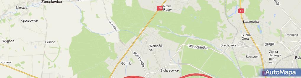 Zdjęcie satelitarne Lucjan Bagnecki - Działalność Gospodarcza