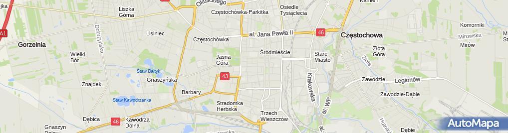 Zdjęcie satelitarne Lucyna Tkaczyńska Specjalistyczna Praktyka Lekarska