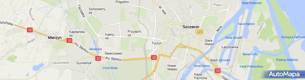 Zdjęcie satelitarne M&K Inwestycje w Szczecinie