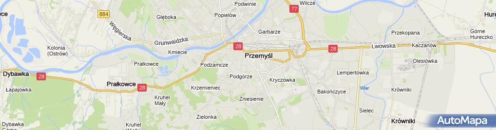 Zdjęcie satelitarne Maciej Gudzelak Mechanika Pojazdowa
