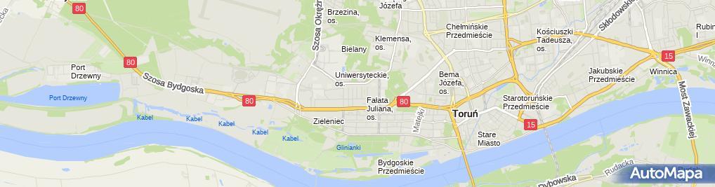 Zdjęcie satelitarne Magdalena Bogusławska Fhu 4Cab, 4Cab
