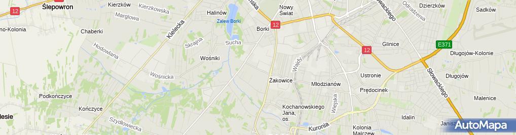 Zdjęcie satelitarne Magdalena Wikalińska - Działalność Gospodarcza