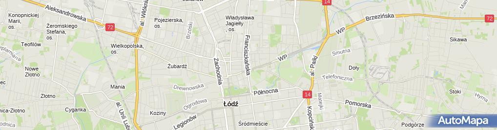 Zdjęcie satelitarne Magnolia Gabinet Rehabilitacyjny i Klinika Zdrowia i Urody Marzena Maciaszek Alina Maciaszek