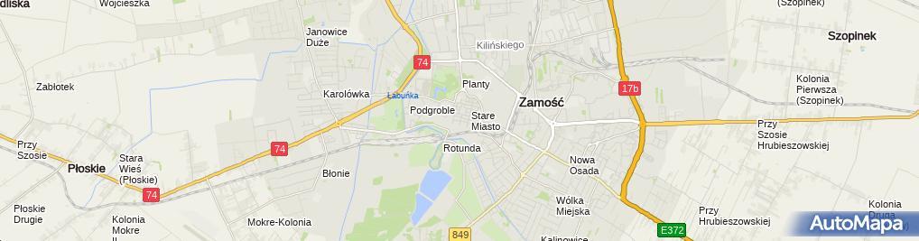 Zdjęcie satelitarne Małgorzata Kuźma - Działalność Gospodarcza
