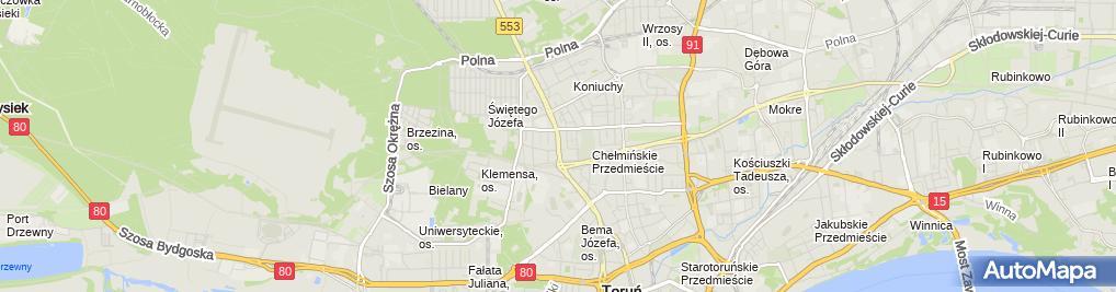 Zdjęcie satelitarne Małgorzata Kwiatkowska Piekarnictwo-Cukiernictwo