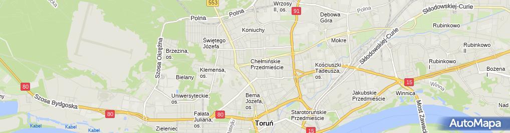 Zdjęcie satelitarne Marcin Chmielak - Działalność Gospodarcza