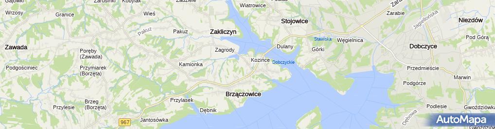 Zdjęcie satelitarne Marcin Przęczek Przedsiębiorstwo Wielobranżowe Moto-MD