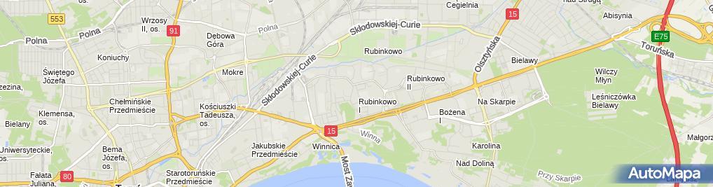 Zdjęcie satelitarne Marcin Rakowski Firma Handlowo Usługowa