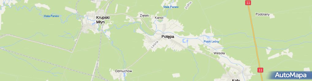 Zdjęcie satelitarne Marcin Szyguda Usługi Geodezyjne MS-Geo