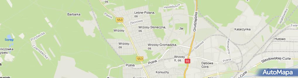 Zdjęcie satelitarne Marcrystal Jakub Wlizło