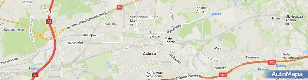 Zdjęcie satelitarne Marek Krzywicki Biuro System