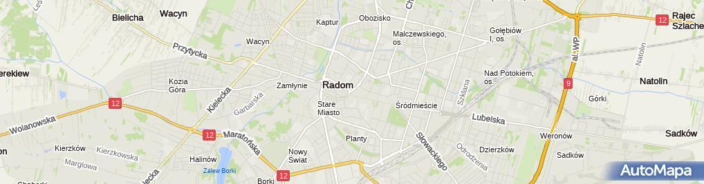 Zdjęcie satelitarne Marek Radzikowski - Działalność Gospodarcza