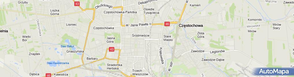 Zdjęcie satelitarne Maria Danilczyk Przedsiębiorstwo Produkcyjno-Handlowo-Usługowe Chat-Noir
