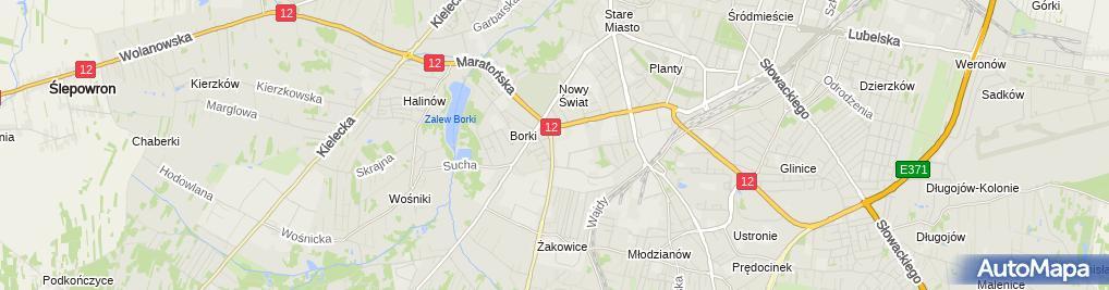 Zdjęcie satelitarne Maria Jędras - Działalność Gospodarcza