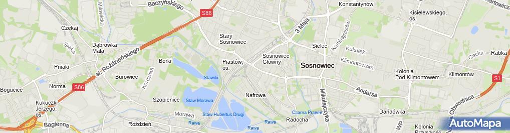 Zdjęcie satelitarne Maria Pieczona - Działalność Gospodarcza