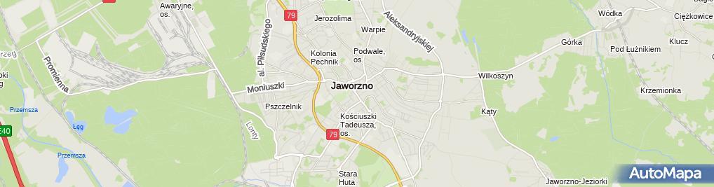 Zdjęcie satelitarne Mario Działalność Handlowo-Usługowa Mariusz Falkiewicz